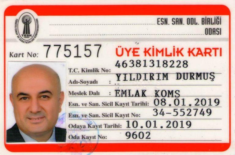 ataşehir emlak üye kartı