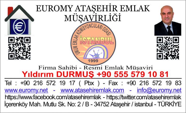 Euromy Ataşehir Emlak Şeffaf Kartvizit karekodlu