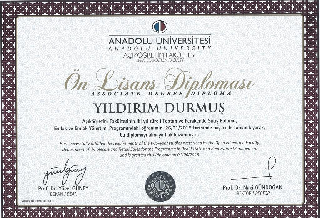 emlak müşavirlik diploması